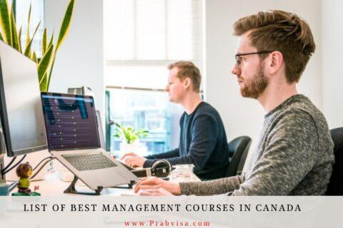 List of Best Management Courses in Canada - prabvisa.com